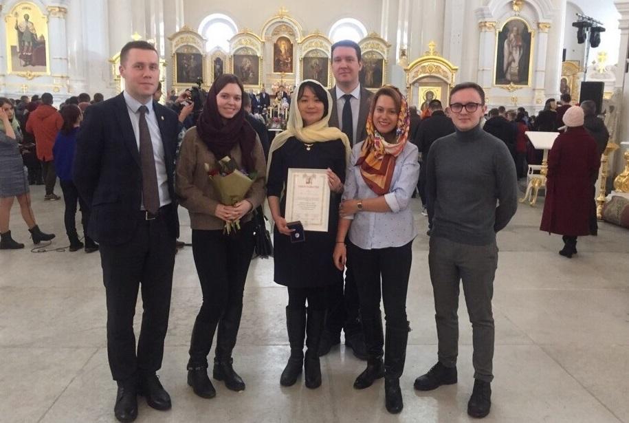 Руководитель КПЦ «Гармония» Т.А. Нам награждена Почетным знаком святой Татьяны