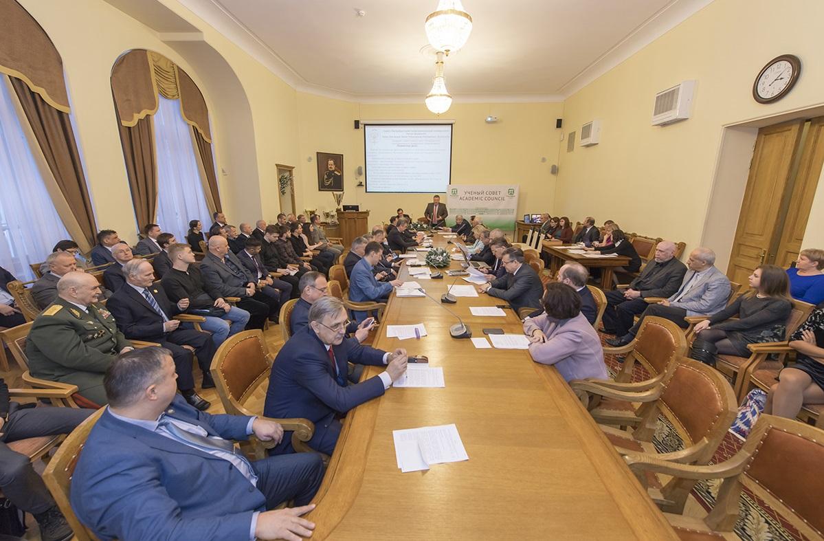 В рамках Ученого совета СПбПУ состоялось вручение наград и почетных званий сотрудникам ГИ