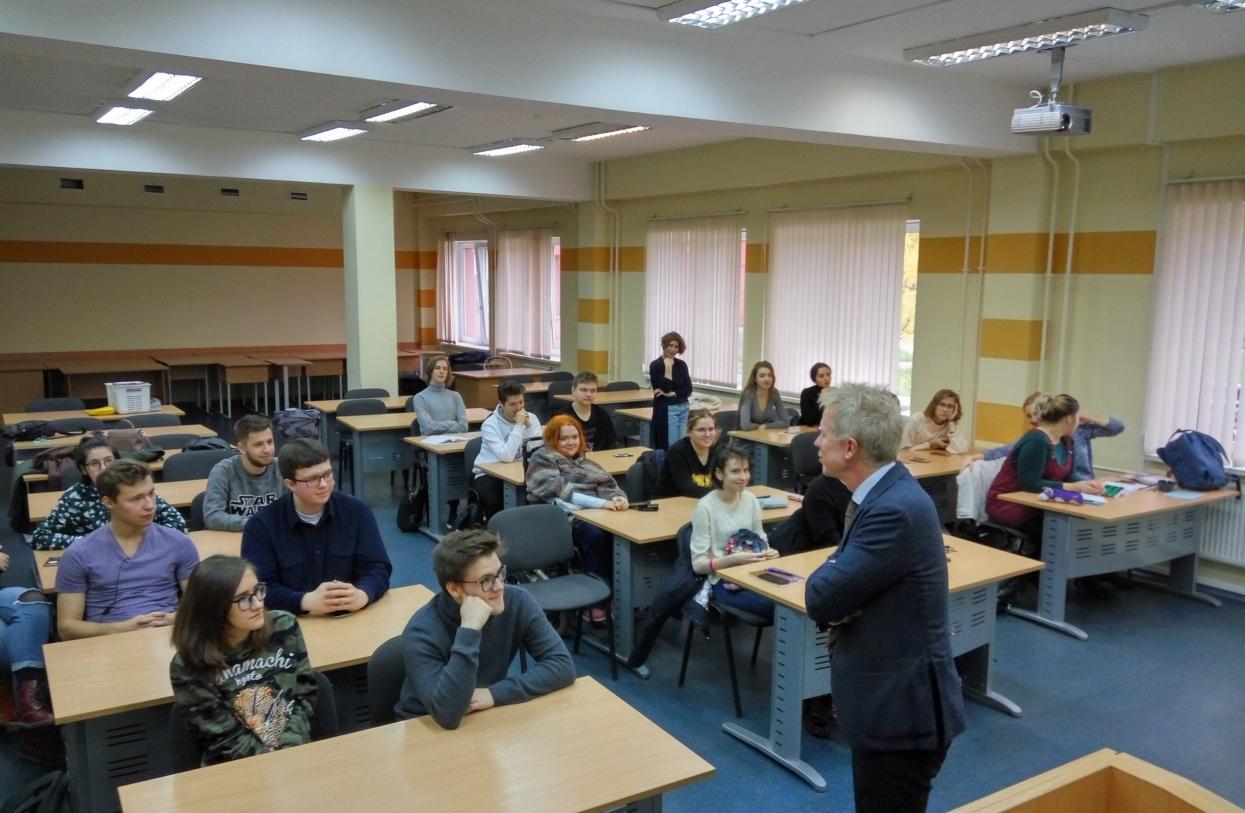 Состоялась встреча студентов ГИ с консулом Швеции в СПб Мортеном Франкбю